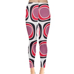 Wheel Stones Pink Pattern Abstract Background Leggings