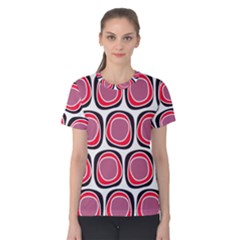 Wheel Stones Pink Pattern Abstract Background Women s Cotton Tee