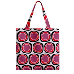 Wheel Stones Pink Pattern Abstract Background Grocery Tote Bag