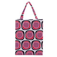 Wheel Stones Pink Pattern Abstract Background Classic Tote Bag by BangZart