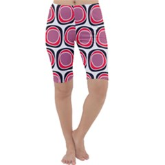Wheel Stones Pink Pattern Abstract Background Cropped Leggings