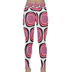Wheel Stones Pink Pattern Abstract Background Classic Yoga Leggings