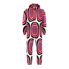 Wheel Stones Pink Pattern Abstract Background Hooded Jumpsuit (kids)