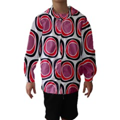 Wheel Stones Pink Pattern Abstract Background Hooded Wind Breaker (kids) by BangZart