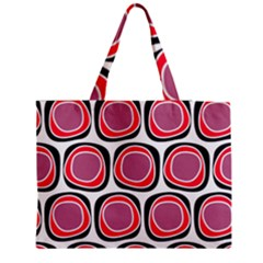 Wheel Stones Pink Pattern Abstract Background Medium Zipper Tote Bag