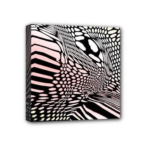 Abstract Fauna Pattern When Zebra And Giraffe Melt Together Mini Canvas 4  X 4