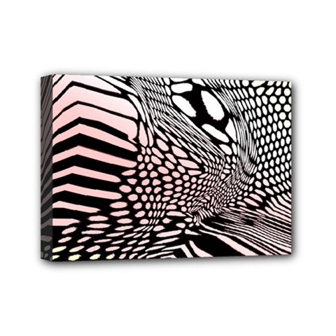 Abstract Fauna Pattern When Zebra And Giraffe Melt Together Mini Canvas 7  X 5  by BangZart