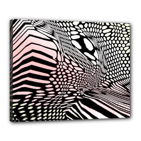 Abstract Fauna Pattern When Zebra And Giraffe Melt Together Canvas 20  X 16