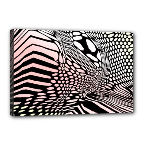 Abstract Fauna Pattern When Zebra And Giraffe Melt Together Canvas 18  X 12