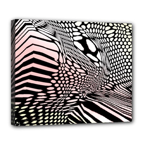 Abstract Fauna Pattern When Zebra And Giraffe Melt Together Deluxe Canvas 24  X 20   by BangZart