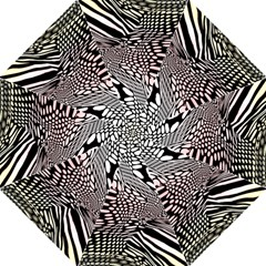 Abstract Fauna Pattern When Zebra And Giraffe Melt Together Hook Handle Umbrellas (large) by BangZart