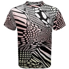 Abstract Fauna Pattern When Zebra And Giraffe Melt Together Men s Cotton Tee
