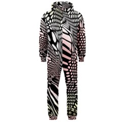 Abstract Fauna Pattern When Zebra And Giraffe Melt Together Hooded Jumpsuit (men)