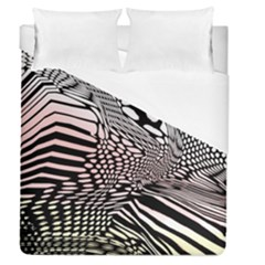Abstract Fauna Pattern When Zebra And Giraffe Melt Together Duvet Cover (queen Size)