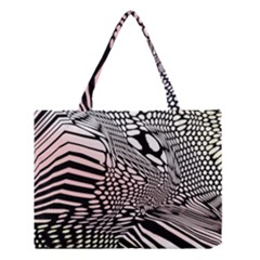Abstract Fauna Pattern When Zebra And Giraffe Melt Together Medium Tote Bag