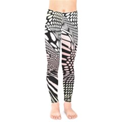 Abstract Fauna Pattern When Zebra And Giraffe Melt Together Kids  Legging