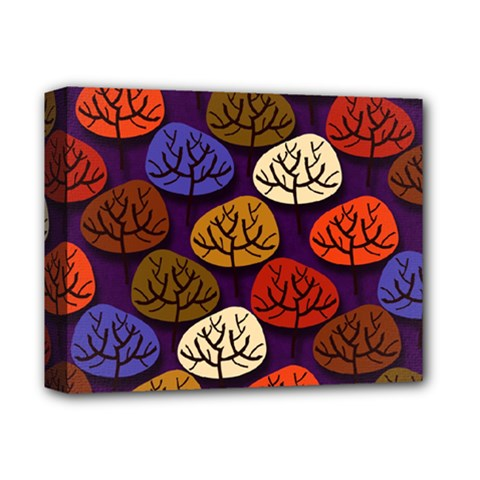 Colorful Trees Background Pattern Deluxe Canvas 14  X 11  by BangZart