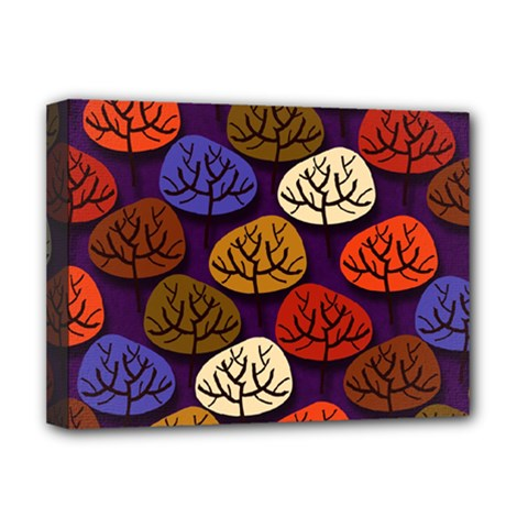 Colorful Trees Background Pattern Deluxe Canvas 16  X 12