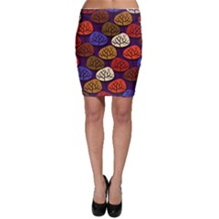 Colorful Trees Background Pattern Bodycon Skirt