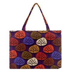 Colorful Trees Background Pattern Medium Tote Bag by BangZart