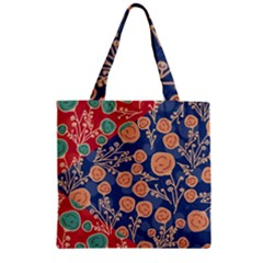 Floral Seamless Pattern Vector Texture Zipper Grocery Tote Bag by BangZart