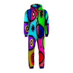 Digitally Painted Colourful Abstract Whimsical Shape Pattern Hooded Jumpsuit (kids)