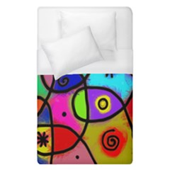 Digitally Painted Colourful Abstract Whimsical Shape Pattern Duvet Cover (single Size)