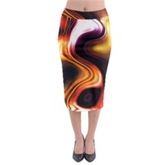 Colourful Abstract Background Design Midi Pencil Skirt