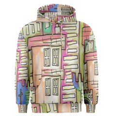 A Village Drawn In A Doodle Style Men s Pullover Hoodie