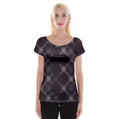 Abstract Seamless Pattern Background Cap Sleeve Tops