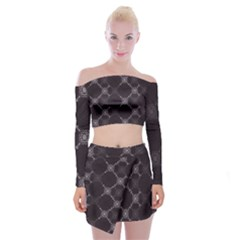 Abstract Seamless Pattern Background Off Shoulder Top With Skirt Set