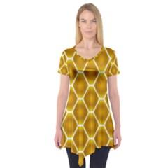 Snake Abstract Pattern Short Sleeve Tunic