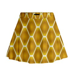 Snake Abstract Pattern Mini Flare Skirt