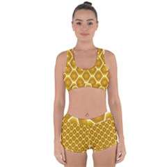 Snake Abstract Pattern Racerback Boyleg Bikini Set