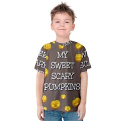 Hallowen My Sweet Scary Pumkins Kids  Cotton Tee
