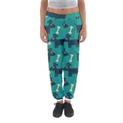 Happy Dogs Animals Pattern Women s Jogger Sweatpants