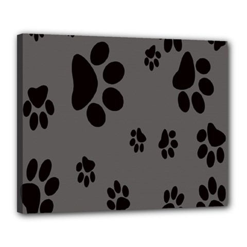 Dog Foodprint Paw Prints Seamless Background And Pattern Canvas 20  X 16  by BangZart