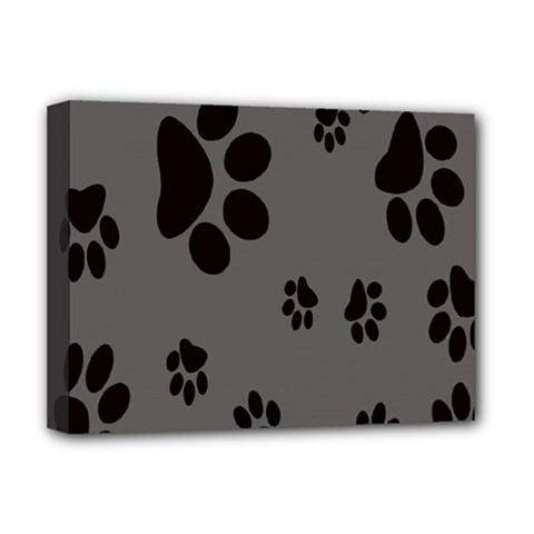 Dog Foodprint Paw Prints Seamless Background And Pattern Deluxe Canvas 16  X 12