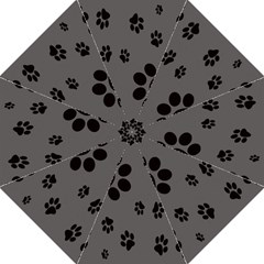 Dog Foodprint Paw Prints Seamless Background And Pattern Hook Handle Umbrellas (medium) by BangZart