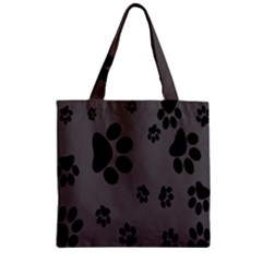 Dog Foodprint Paw Prints Seamless Background And Pattern Zipper Grocery Tote Bag by BangZart