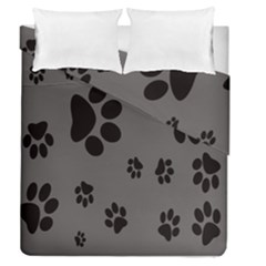 Dog Foodprint Paw Prints Seamless Background And Pattern Duvet Cover Double Side (queen Size)