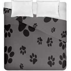 Dog Foodprint Paw Prints Seamless Background And Pattern Duvet Cover Double Side (king Size) by BangZart