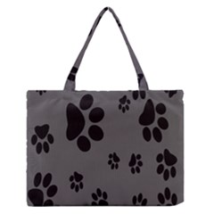 Dog Foodprint Paw Prints Seamless Background And Pattern Medium Zipper Tote Bag