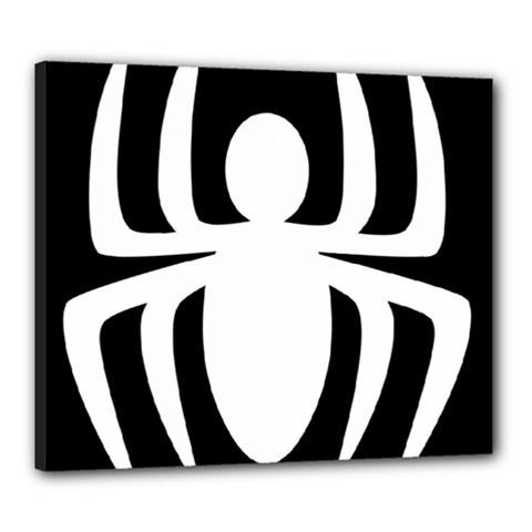 White Spider Canvas 24  X 20