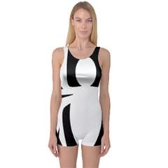 White Spider One Piece Boyleg Swimsuit