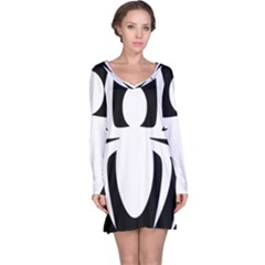 White Spider Long Sleeve Nightdress