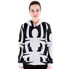 White Spider Women s Zipper Hoodie