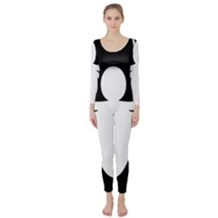 White Spider Long Sleeve Catsuit