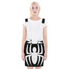 White Spider Braces Suspender Skirt