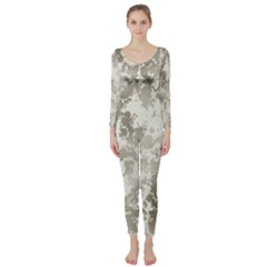 Wall Rock Pattern Structure Dirty Long Sleeve Catsuit by BangZart